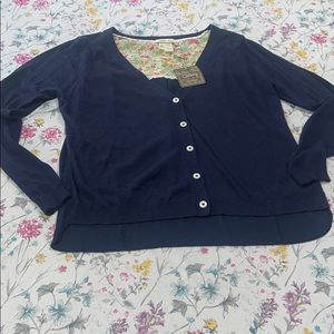 Matilda Jane lightweight navy cardigan, medium